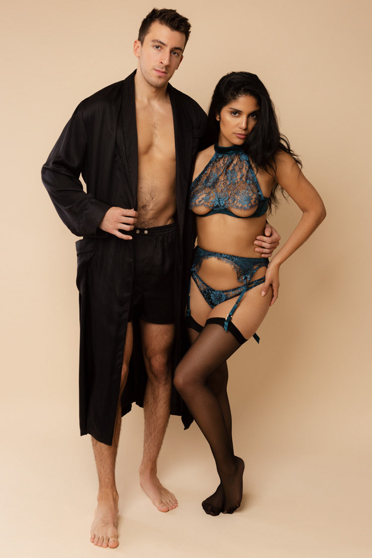 Peridot Woburn His & Hers Set | Anya Lust Luxury Lingerie