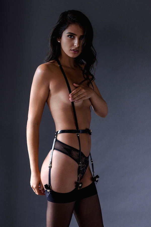 Ritzy Garter Belt Harness - Anya Lust Luxury Lingerie