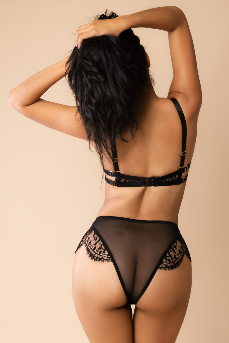 Rosa High-Waisted Panty Black | Ludique | Anya Lust Lingerie