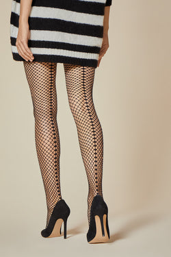 Salire Fishnet Stockings with Seam | Fiore | Anya Lust