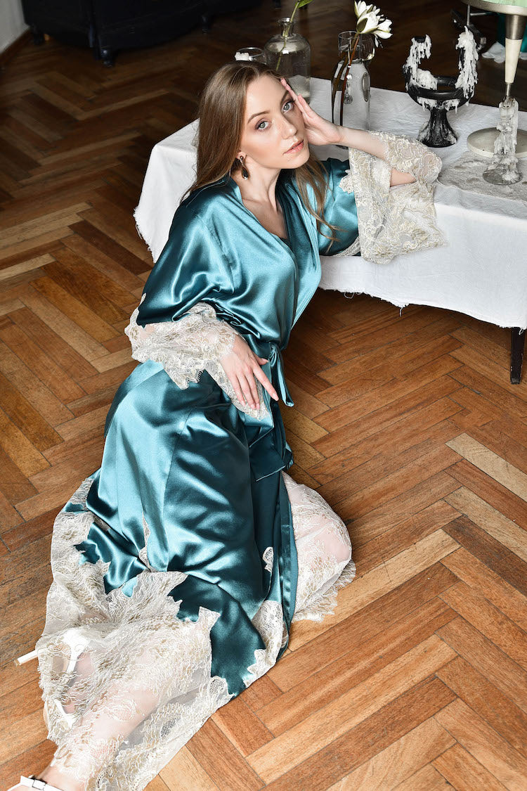 luxury silk lingerie | silk nightgown | silk robe | anya lust