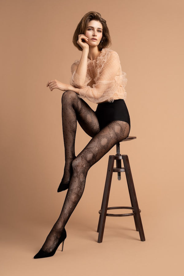 Serpente Snake Print Tights