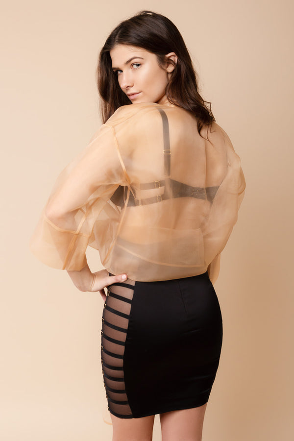 Sleek Organza Top | Murmur | Anya Lust Date Night