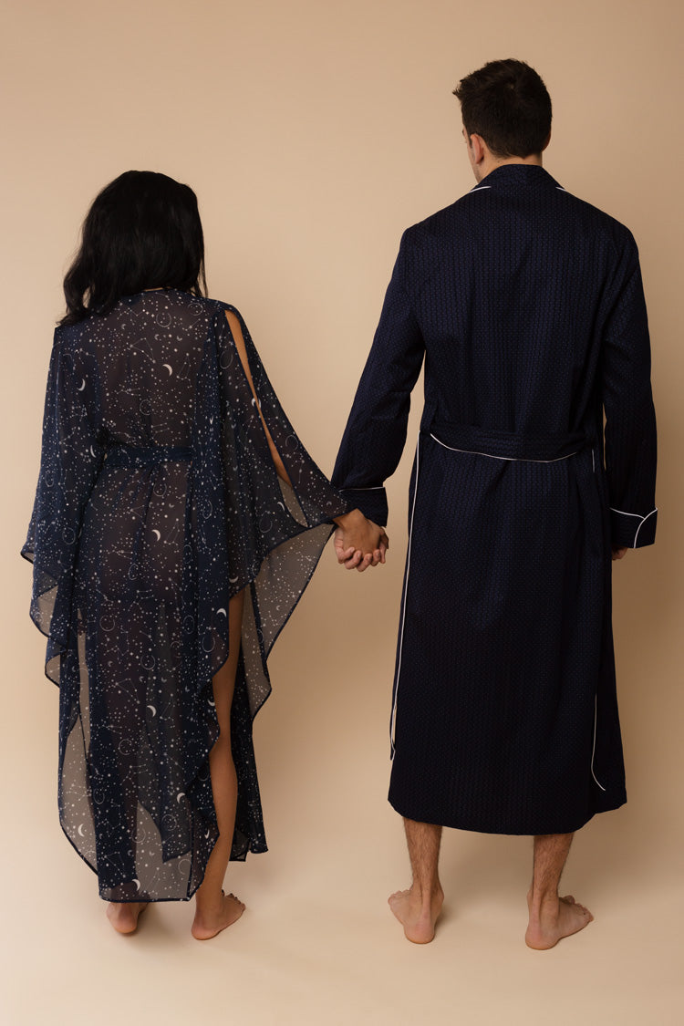 Stars Aligned Navy His & Hers Robes | Anya Lust Lingerie