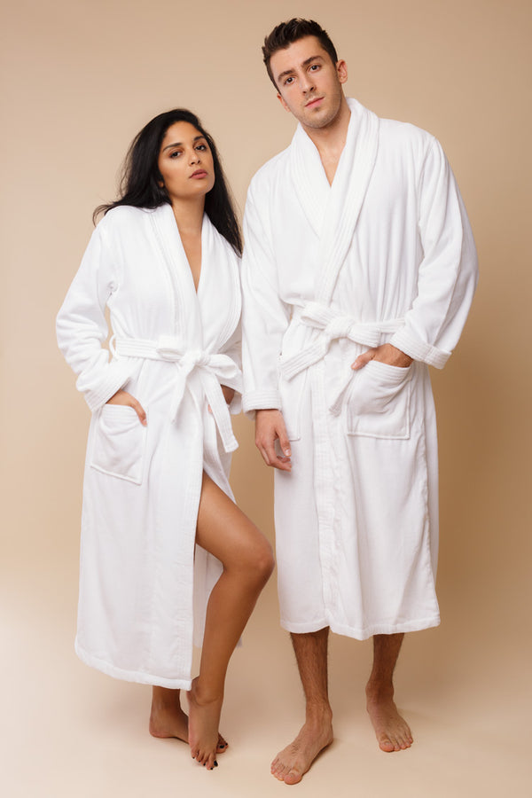 Triton Bathrobes | Derek Rose Terry Cloth Robe | Anya Lust