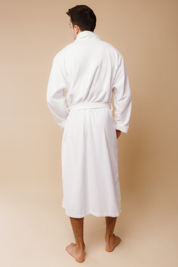 Triton Men's Bathrobe | Derek Rose Towelling Robe | Anya Lust Boutique