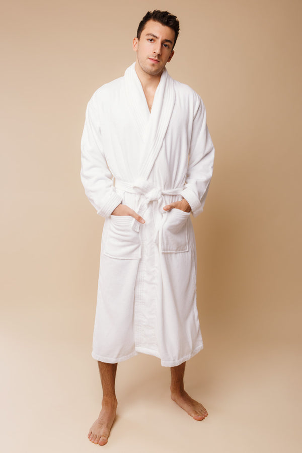 Triton Men's Bathrobe | Derek Rose Towelling Robe | Anya Lust