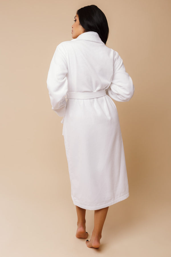 Triton Women's Bathrobe | Derek Rose Towelling Robe | Anya Lust Boutique