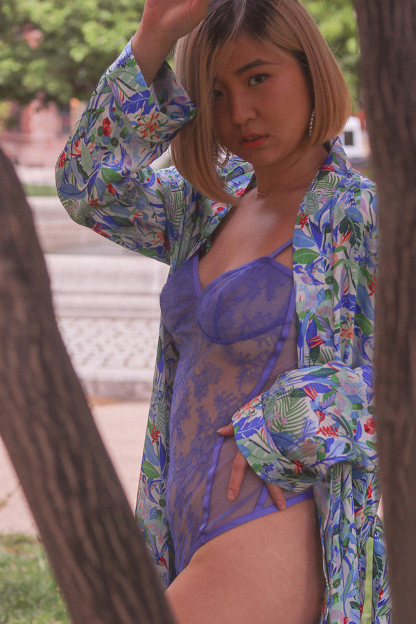 Tropical Brindisi Silk Robe