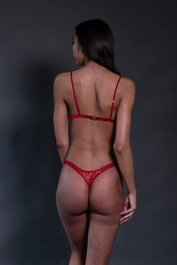Venus Red Lace Thong | Coco de Mer | Anya Lust