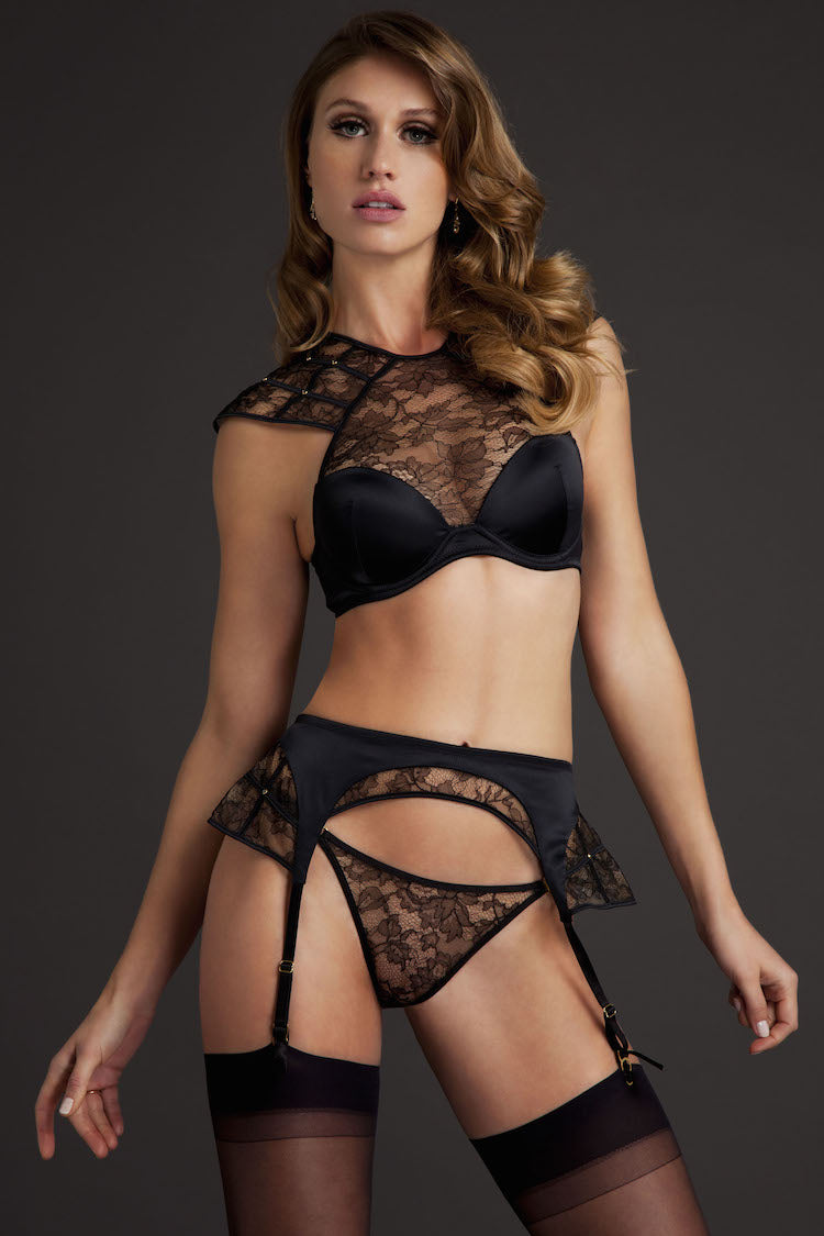 Xena Padded Bra - Xena Garter Belt - Tatu Couture at Anya Lust