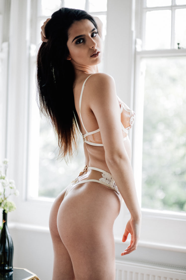 maia ivory bra and thong - anya lust