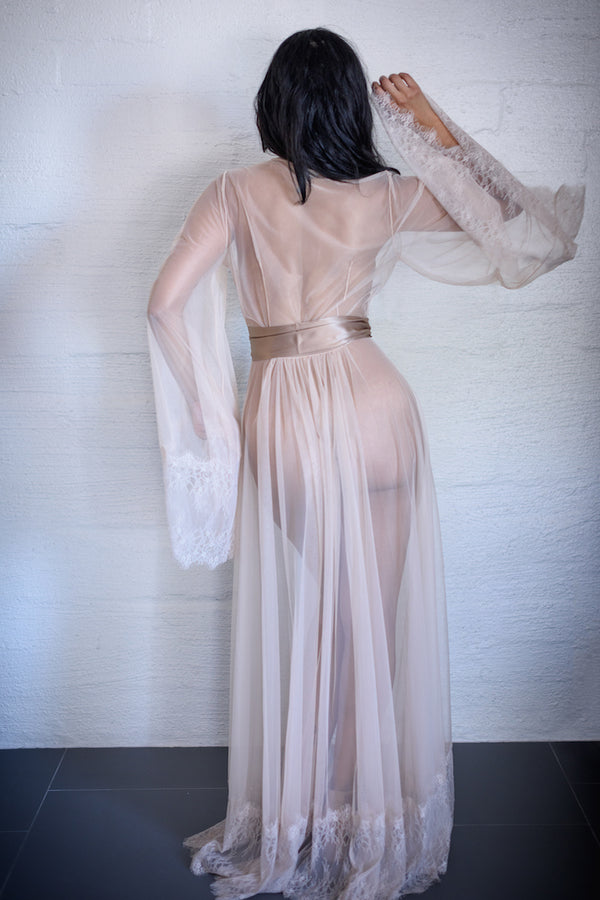marguax sheer robe - anya lust luxury lingerie store
