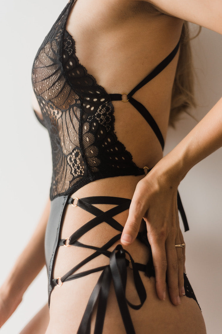 Skylar Bodysuit with Garter Belt