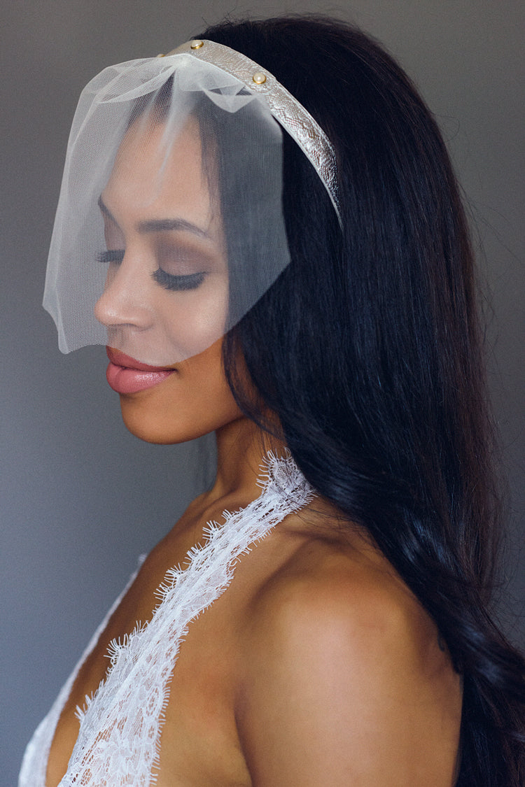 tiffany mint blue lace veil - anya lust