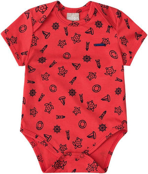 Boy's 2Pcs Short Sleeve Bodysuits and Short