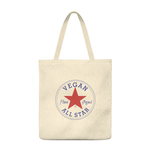 All Star Vegans Star Shoulder Tote Bag - Roomy - AllStarVegans