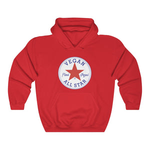 All Star Vegans Star Unisex Hooded Sweatshirt - AllStarVegans