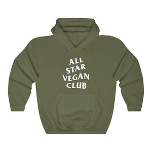 All Star Vegan Club Unisex Hooded Sweatshirt - AllStarVegans