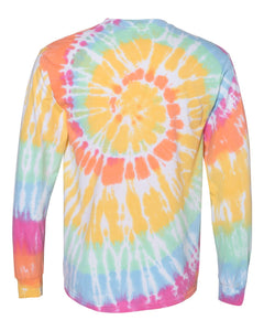 All Star Vegan Club Spiral Tie Dye Long Sleeve - AllStarVegans