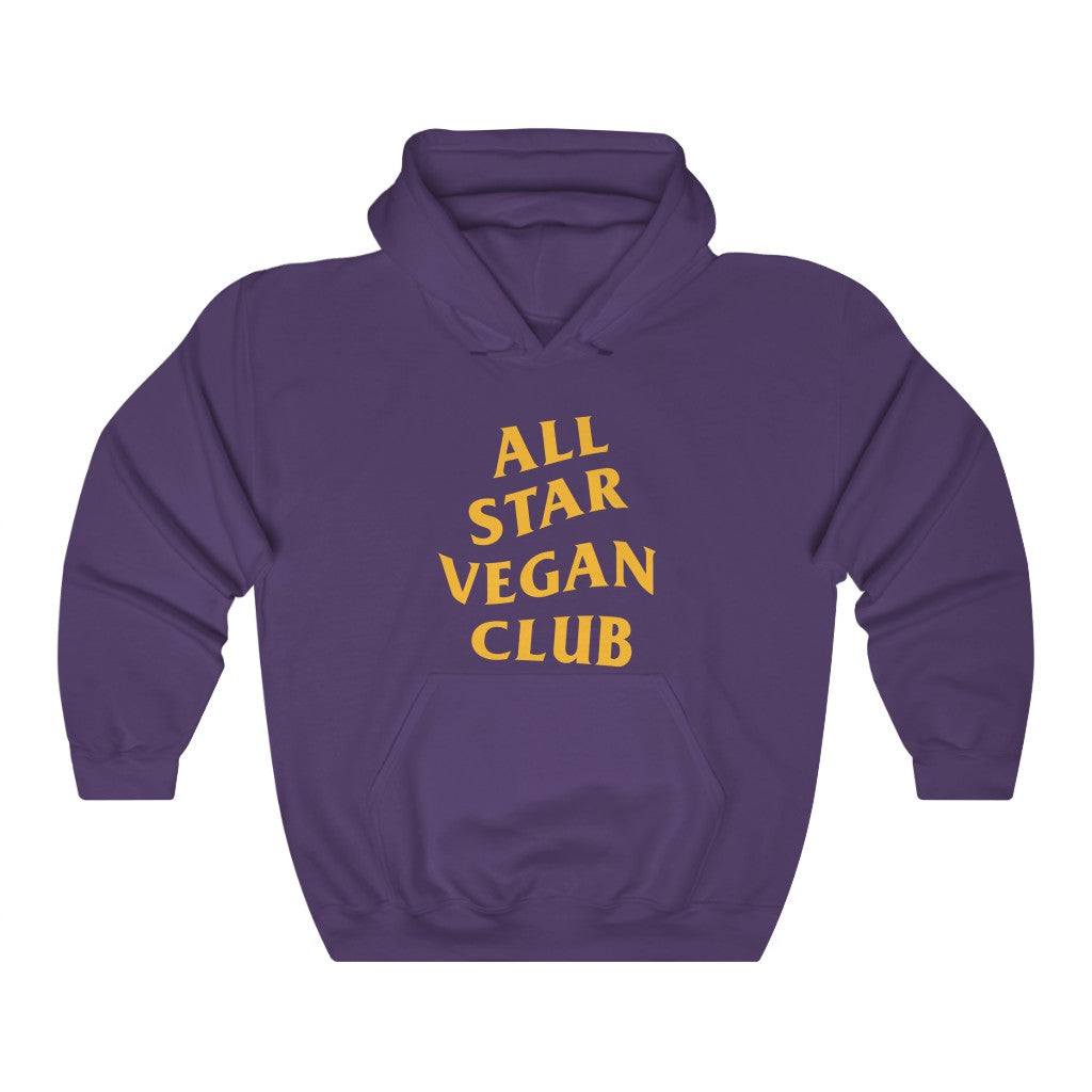Laker All Star Vegan Club Unisex Hooded Sweatshirt - AllStarVegans