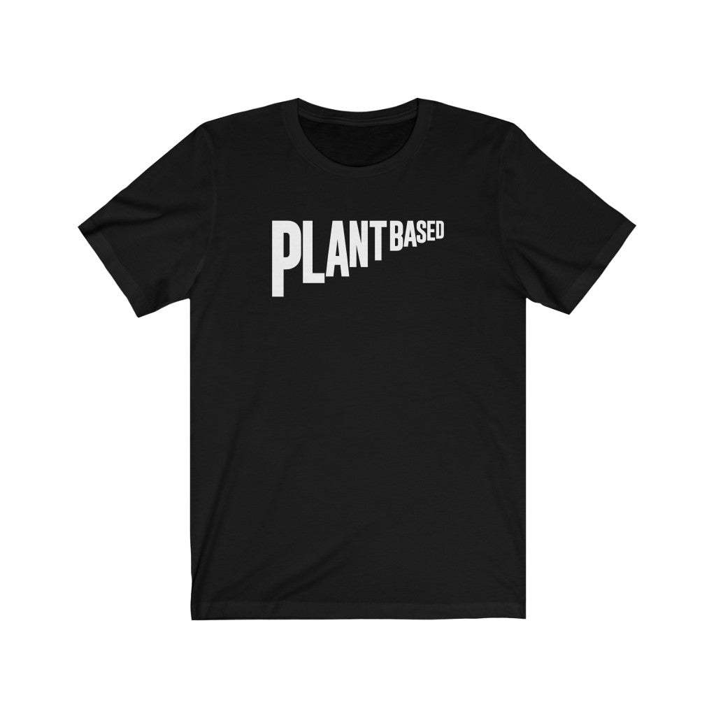 Plant Based Flag White Unisex Tee
