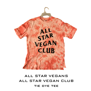 All Star Vegan Club Tie dye T-shirt - AllStarVegans