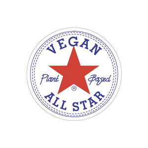 Vegan All Star Kiss-Cut Stickers - AllStarVegans