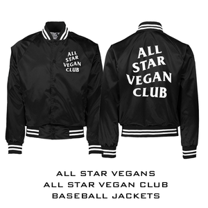 All Star Vegan Club Baseball Jacket - AllStarVegans