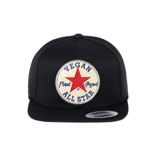 Load image into Gallery viewer, All Star Vegans Star Snapback Black - AllStarVegans