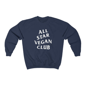 All Star Vegan Club Unisex Crewneck Sweatshirt - AllStarVegans