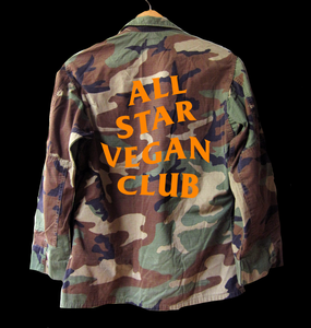 All Star Vegan Club Camo Jacket - AllStarVegans