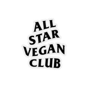 All Star Vegan Club Kiss-Cut Stickers - AllStarVegans