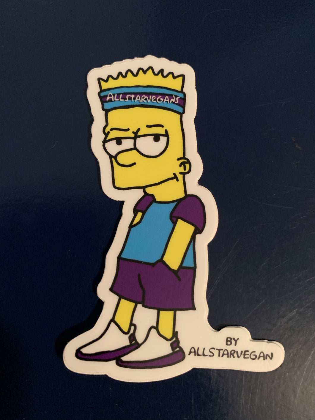 Vegan Bart Cartoon Sticker - AllStarVegans