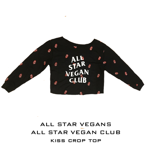 All Star Vegan Club Lips Crop shirt - AllStarVegans