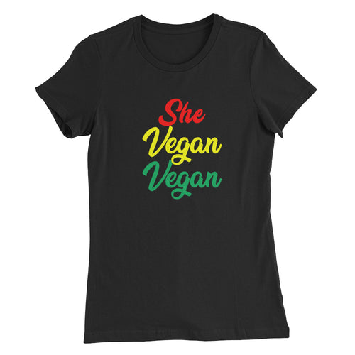 She Vegan Vegan Women's Slim Fit T-Shirt - AllStarVegans