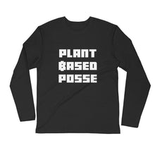Load image into Gallery viewer, Plant Based Posse Long Sleeve Fitted Crew - AllStarVegans