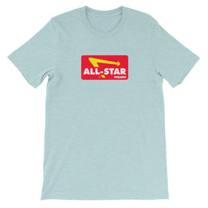 All Star Vegans Dine in -  Unisex Short Sleeve T-Shirt - AllStarVegans