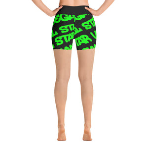All Star Vegan Grafitti Yoga Shorts - AllStarVegans
