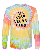 Load image into Gallery viewer, All Star Vegan Club Spiral Tie Dye Long Sleeve - AllStarVegans