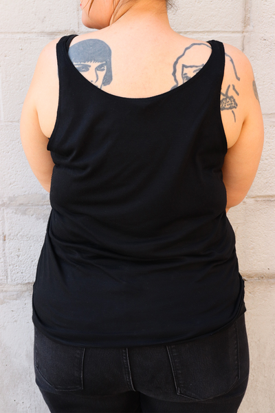 Women's Black and Gold Big Easy Bucha NOLA Tank