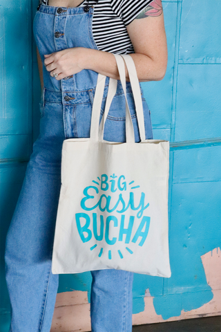 Big Easy Bucha Canvas Shopper - Natural & Teal