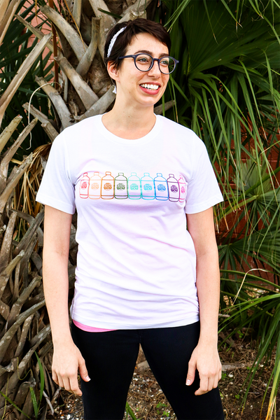 Big Easy Bucha Rainbow T-Shirt - White