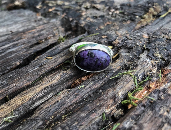 Charoite Twig Ring