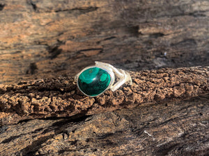 Malachite Twig Ring