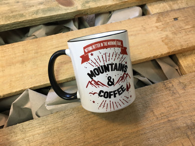 Team-JOllify Kaffeetasse - Mountains & Coffee - Outdoor Tasse