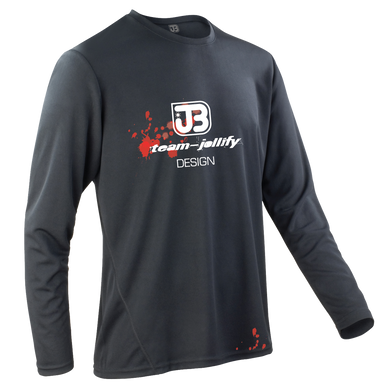 JOllify Team Blood Blut Design Mountainbike Trikot langarm schwarz