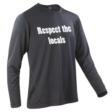 Team-JOllify Respect The Locals Mountainbike Trikot schwarz langarm