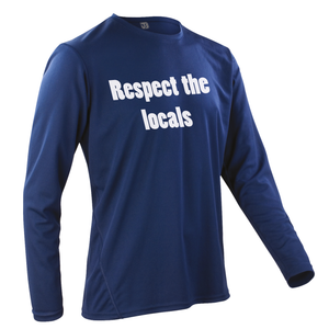 Team-JOllify Respect The Locals Mountainbike Trikot navy langarm