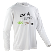 Laden Sie das Bild in den Galerie-Viewer, Team-JOllify Dirt Trikot Eat Sleep Ride Dirt Mountainbike weiss langarm